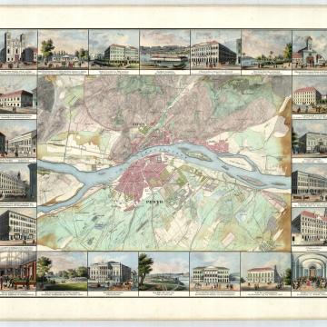 Buda, Pest, Óbuda általános térkép 1837